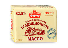 Масло сливочное традиционное 82.5%, 180г
