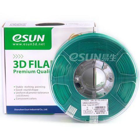 Пластик ABS ESUN 1.75 мм 1кг., зеленый (ABS175G1)