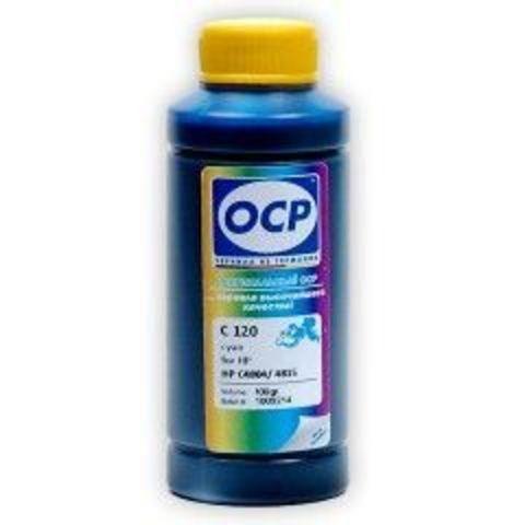 Чернила OCP C120 Cyan для картриджей HP 11/13/12/82, 100 мл
