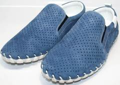 Мокасины мужские синие Alvito 01-1308 92-86