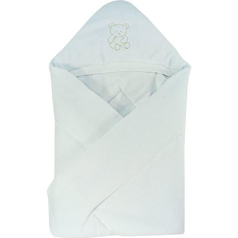 Папитто. Конверт-одеяло велюр с вышивкой, белый вид 1