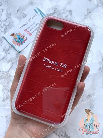 Чехол iPhone 7/8 Leather case full /red/