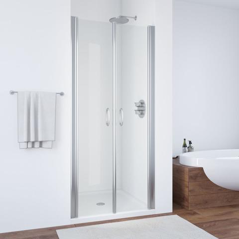 Душевая дверь в нишу Vegas Glass E2P профиль хром глянцевый, стекло прозрачное