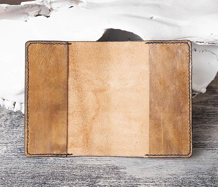 BC172 Обложка на паспорт с изображением щуки, ручная работа фото 05
