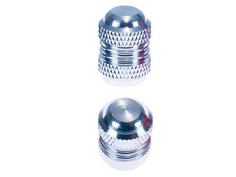Набор колпачков на ниппель - серебро