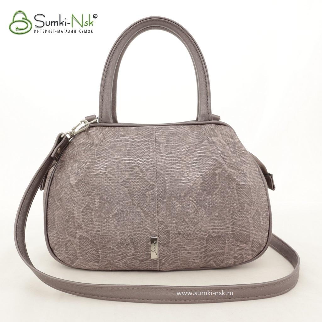8284f4657cca Женская сумка Саломея 479 муар змея какао + металлик