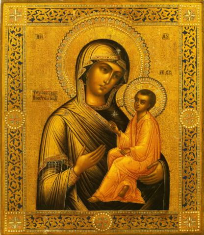 Икона Божией Матери Тихвинская на дереве на левкасе мастерская Иконный Дом