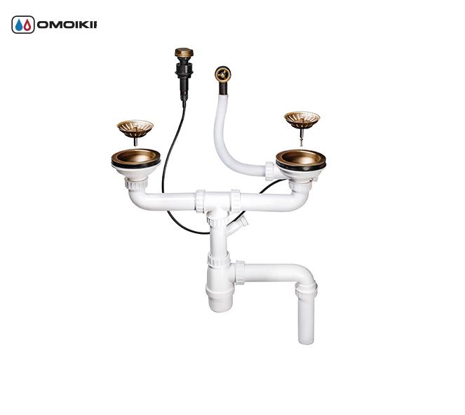 Клапан-автомат для моек с двумя чашами OMOIKIRI A-02-AB-2 (4996008)Аксессуары для моек<br>Клапан-автомат для моек с двумя чашами OMOIKIRI A-02-AB-2 (4996008)<br><br>Клапан-автомат служит для отвода воды из чаши мойки.Решетка в сливном отверстии выполняет функцию фильтра и не дает крупным частицам попасть в отводящую трубу.Квадратная ручка управления устанавливается на мойке или столешнице.<br>