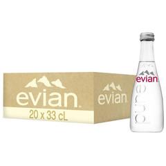 Вода минеральная Evian стекл. бут. 0,33л негаз 20 шт/уп