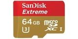 MicroSDXC 64GB SanDisk UHS-I U3 Extreme (SD адаптер) карта