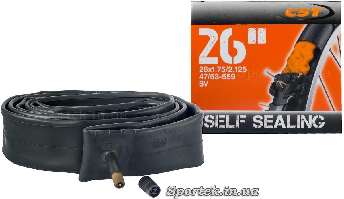 Велокамера CST с антипрокольной защитой 26 дюймов