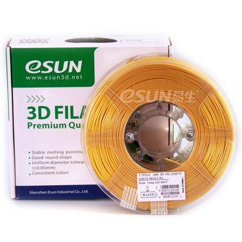 Пластик ABS ESUN 1.75 мм 1кг., золотистый (ABS175J1)