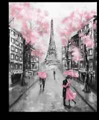 """Постер """"Вид на Париж и Эйфелеву Башню"""""""