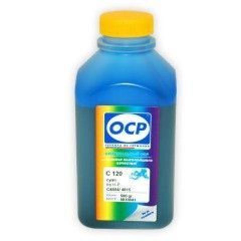 Чернила OCP C120 Cyan для картриджей HP 11/13/12/82, 500 мл