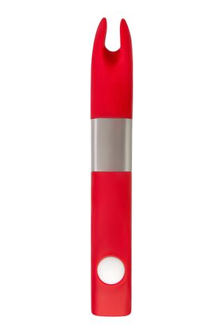 Вибратор клиторальный 4Gb USB памяти, 7 режимов вибрации, красный фото