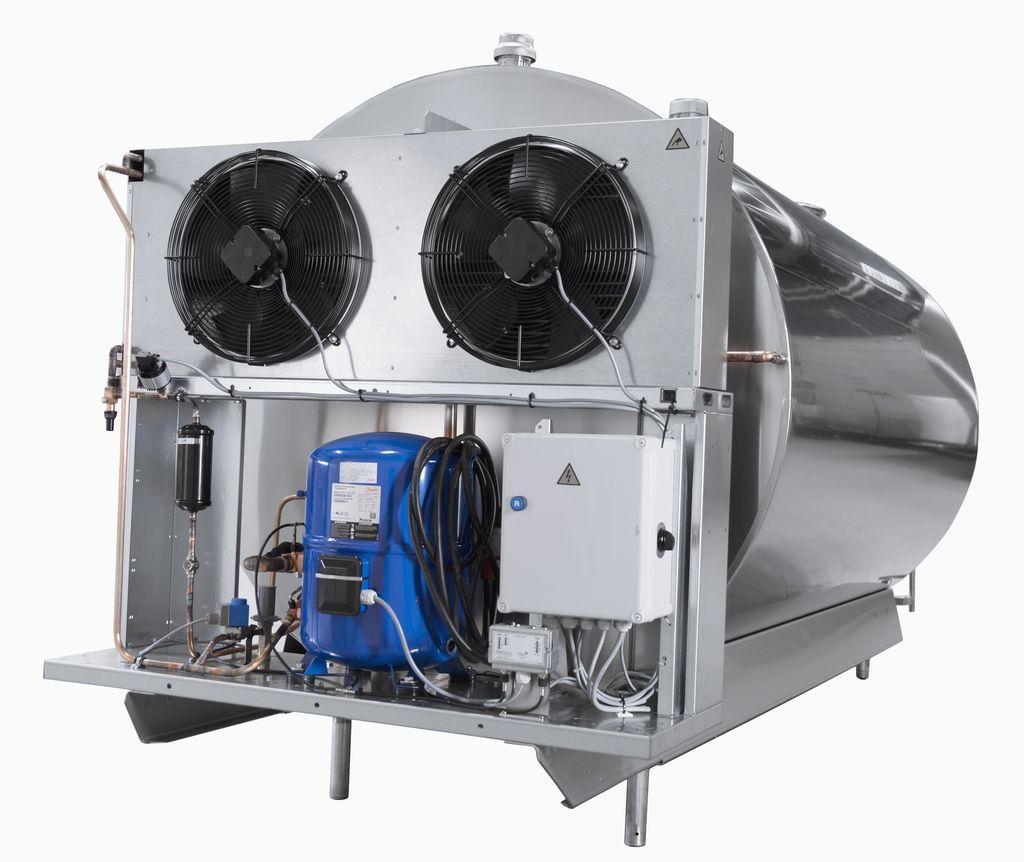 1600 литров | Агрегаты охлаждения для танка охладителя молока DF953 Wedholms на раме в комлпекте
