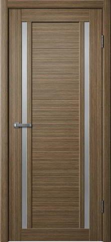 Дверь Porte line Берлин 23, стекло матовое, цвет тиковое дерево 3D, остекленная