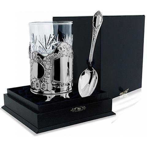 Серебряный набор для чая «Меценат» из 3-х предметов