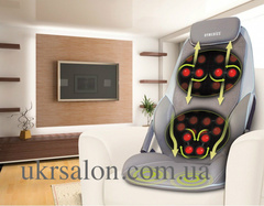 Массажная накидка HoMedics Shiatsu MAX Deluxe с разворотными ролами, прогревом, вибрацией в сиденье и чехлом