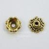 Шапочка для бусины (цвет - античное золото) 7х2,5 мм, 10 штук