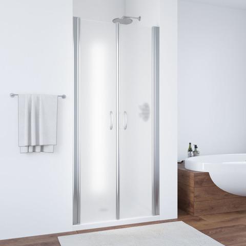 Душевая дверь в нишу Vegas Glass E2P профиль хром глянцевый, стекло сатин