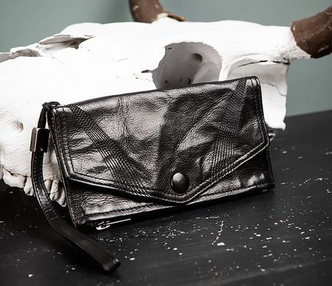 Клатч портмоне из «мятой» натуральной кожи