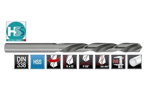 Сверло по металлу (левостороннее) HSS-Tools DIN338 HSS-G 1,0х34мм 1720-1010
