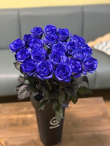 Синие розы (60 см)
