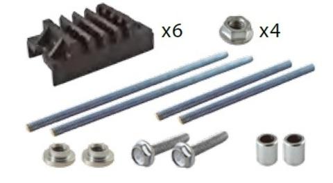 Набор шинных держателей и крепежа НШД 4/5 T для 3Р системы шин 30-125 x 5 мм TDM
