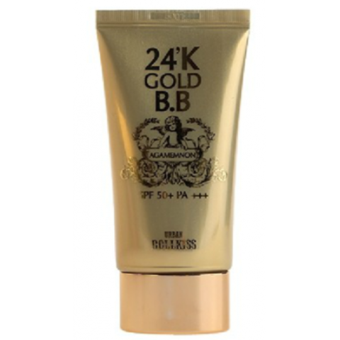 Baviphat urban dollkiss agamemnon 24K gold BB cream 21 light SPF50+/PA+++ ББ крем с микрочастицами золота 50ml