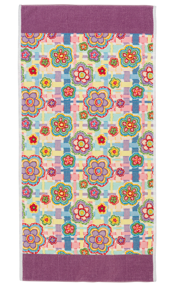 Полотенце 75x150 Feiler Happy Flower 55 lavendel