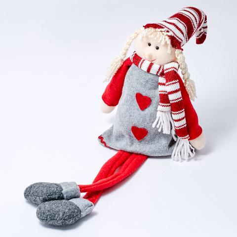 """Новогодняя игрушка """"ДЕВОЧКА В ШАРФЕ""""  51см"""