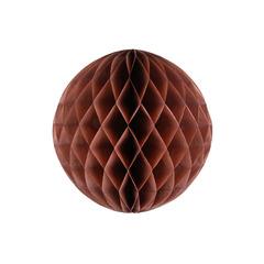 Бумажное украшение шар 20 см коричневый