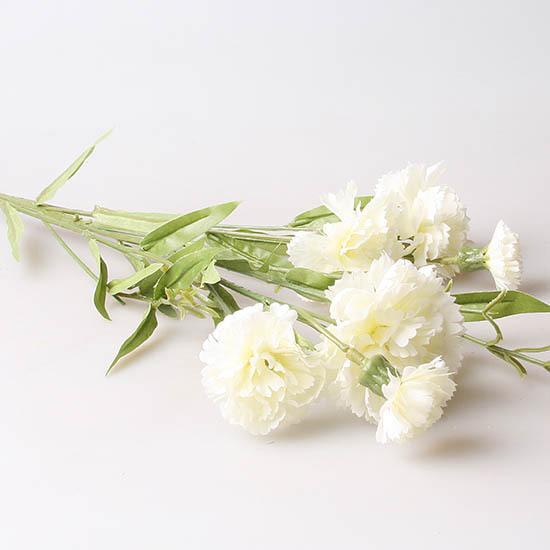 Гвоздика кустовая 9140, white