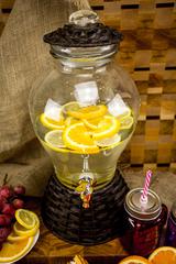 Стеклянный диспенсер для напитков «Вулкан», 5 литров