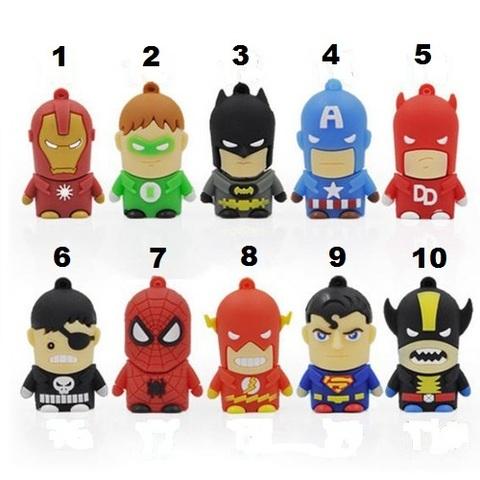 Superheroes USB 2.0 Flash Memory Drive 8 GB
