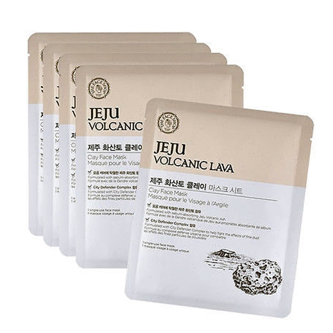 THE FACE SHOP Jeju Volcanic Lava Clay Face Mask, 18 gr
