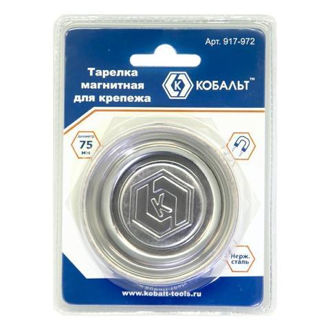 Тарелка магнитная КОБАЛЬТ для крепежа 75 х 17 мм (1 шт.) блистер