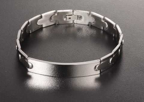 Солидный классический мужской браслет из ювелирной стали с пластиной под гравировку Steelman gb0615761a