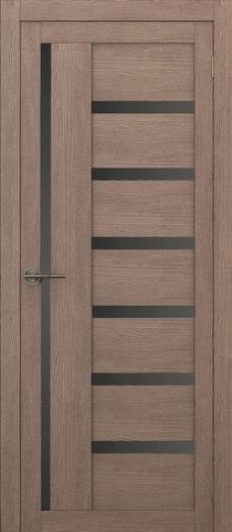 Дверь APOLLO DOORS F17, стекло чёрное Lacobel, цвет орех золотой, остекленная