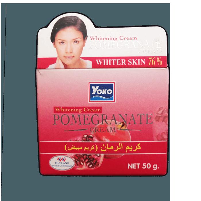 Yoko Крем отбеливающий антивозрастной с Гранатом Pomegranate Whitening Cream, 50 г