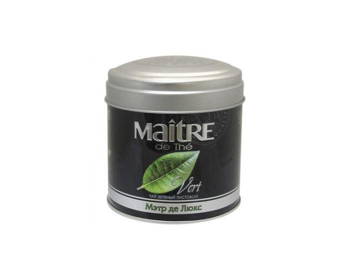 Чай зеленый листовой Maitre Де Люкс, 65 г (Мэтр)
