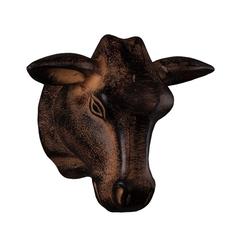 Декор 16х12х20 Roomers Голова быка бронзовая