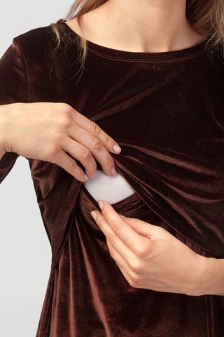 Платье для будущих и кормящих мам Бархатный вечер