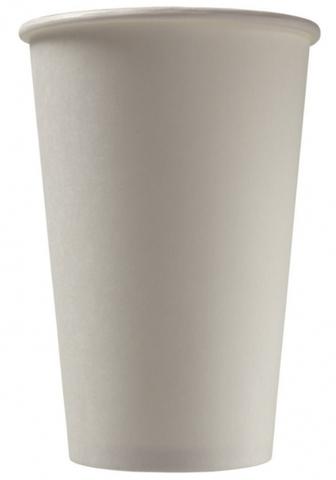 Бумажный стакан 300 мл белый