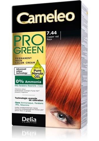 Delia Cosmetics Cameleo Pro Green Краска для волос тон 7.44 рыжий