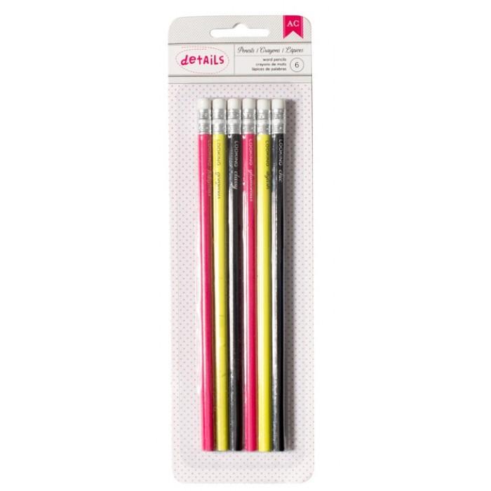 Набор графитовых (простых) карандашей с ластиком