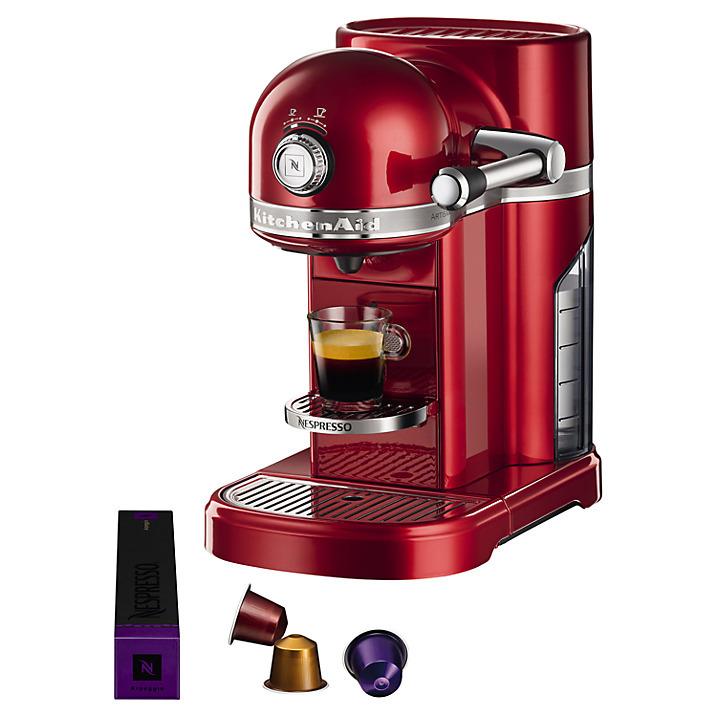 KitchenAid Nespresso Artisan Coffee Machine, Candy Apple Red