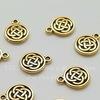 """Подвеска круглая TierraCast """"Кельтский узел"""" (цвет-античное золото) 15х12 мм (20170913_114313_0)"""