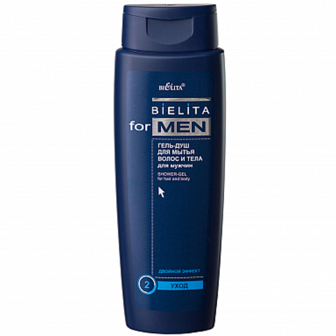 Белита Bielita for Men Гель-душ для мытья волос и тела 400 мл